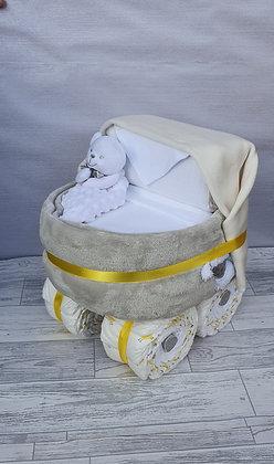 Nappy Pram - White