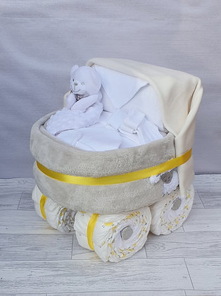 Nappy Pram Plus - White