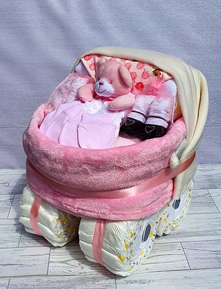 Nappy Pram Plus - Pink
