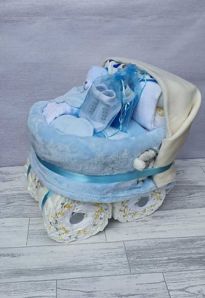 Nappy Pram Plus - Blue