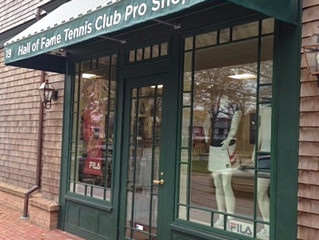 SLIP FIT TIES Available at the International Tennis Hall of Fame's  Pro Shop