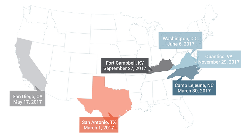 MilSpouseFest 2017 Locations