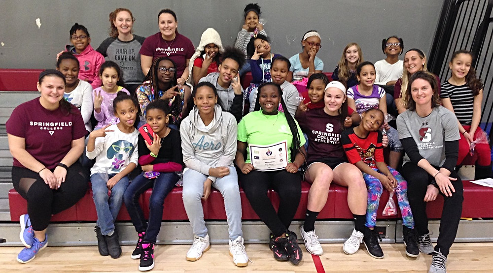 The girls with their coaches