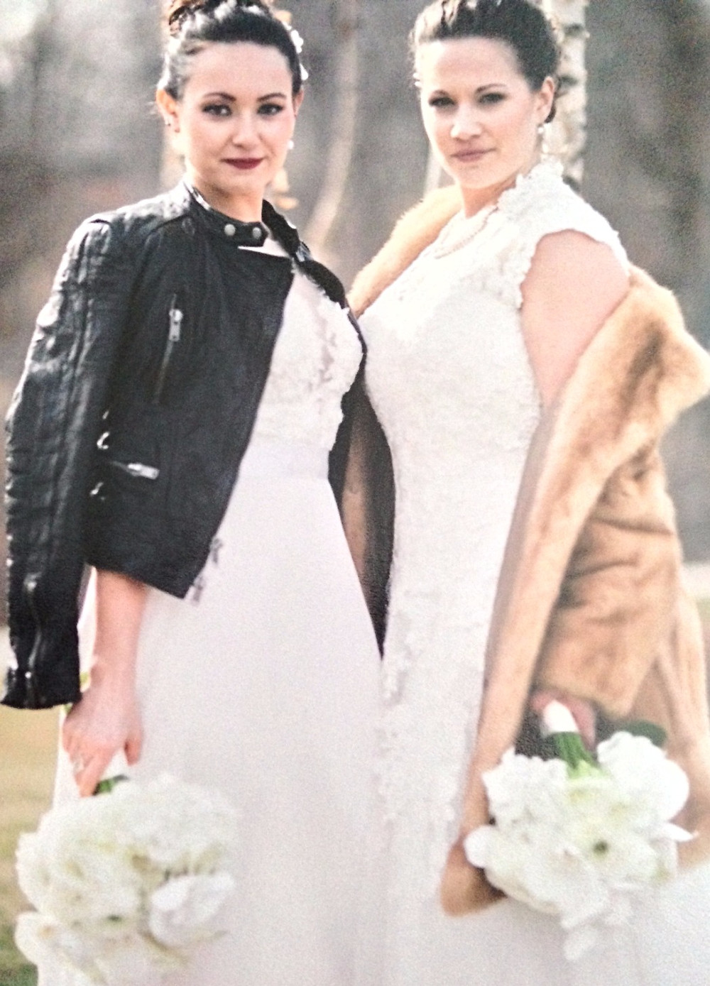 FIERCE! Shannon and Caitline Burke on their wedding day