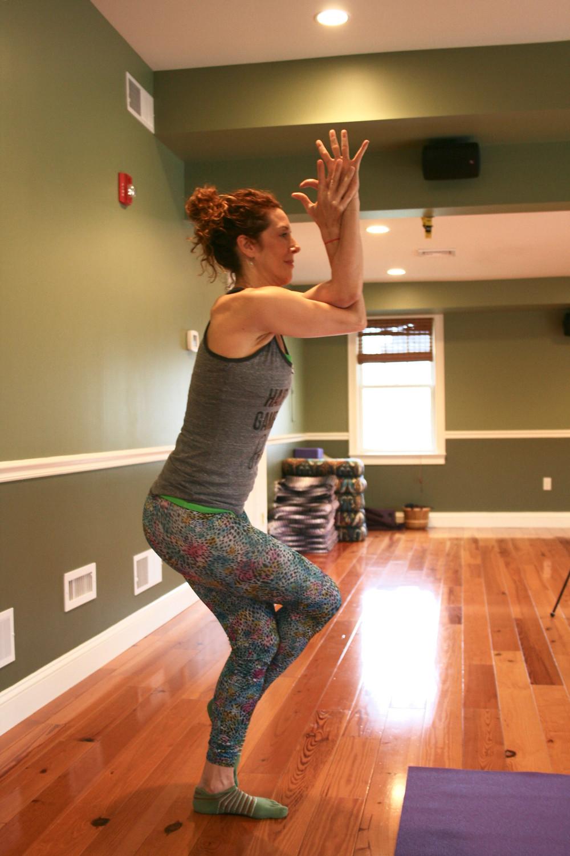 E'loise posing at Tenth Gate Yoga Center