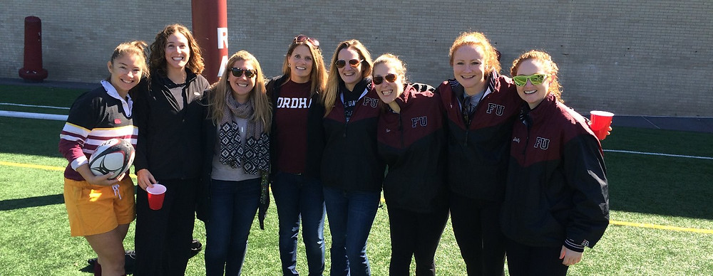 Karyn Heffernan, on left, with fellow FUWRFC Alumni