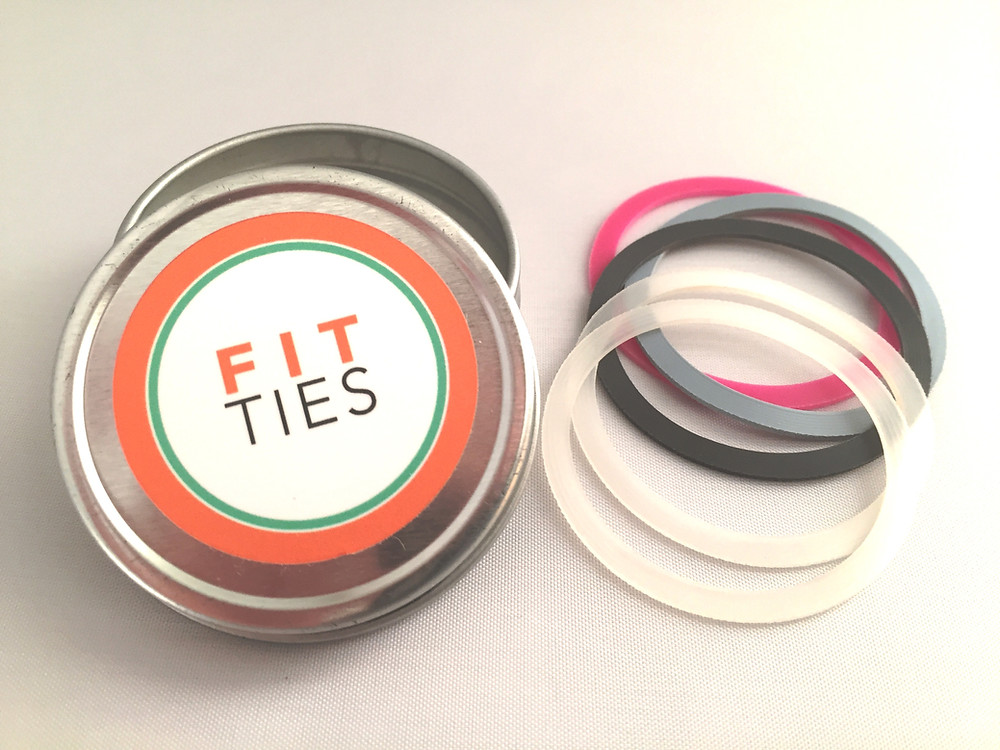 FIT TIES - Pictured in Pretty Knotty Rainbow