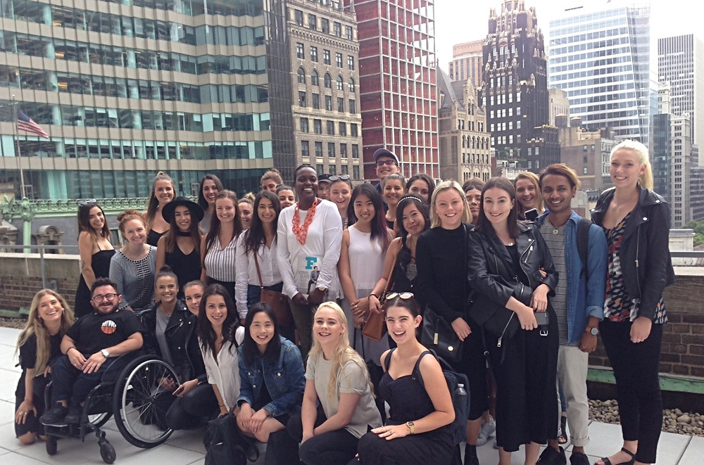 RMIT Students visiting the WWD office in NYC while studying at LIM College