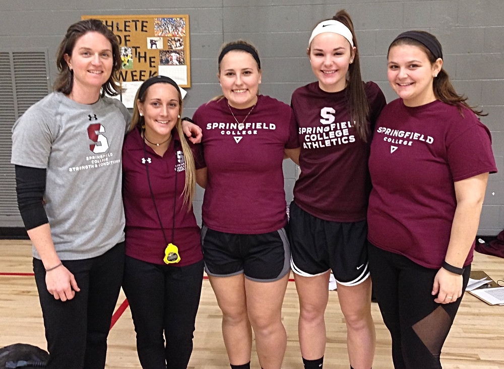 Dr. Kristen Ouellette and students from Springfield College