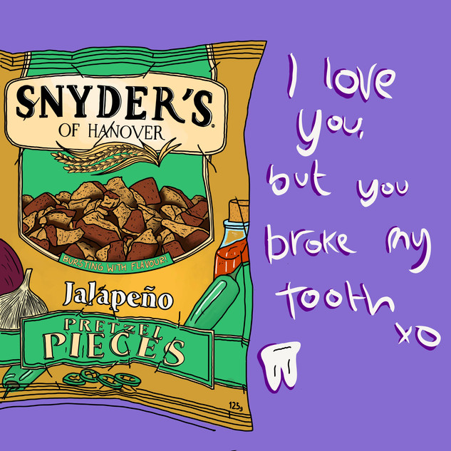 I love you, but you broke my tooth