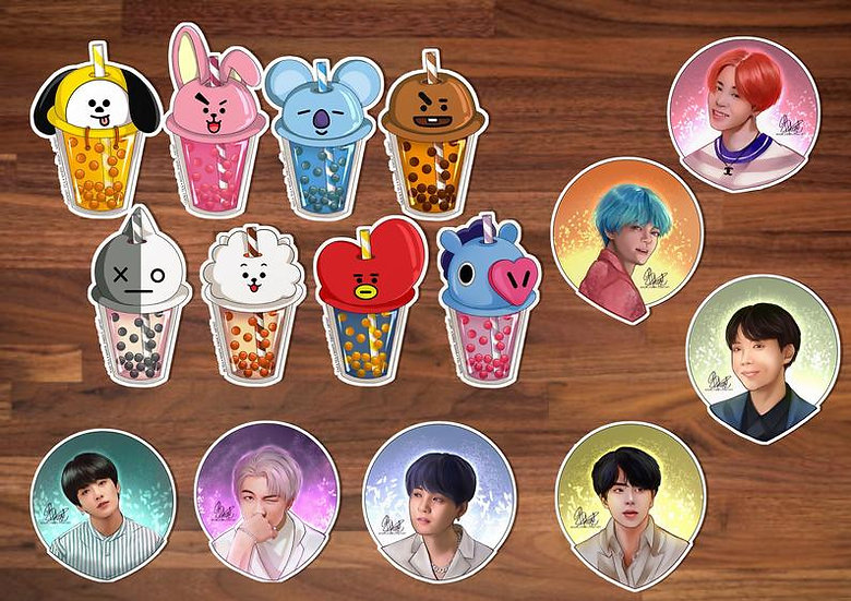 BTS Sticker Collection