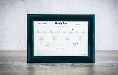 4 Generation Family Tree (Landscape) Per