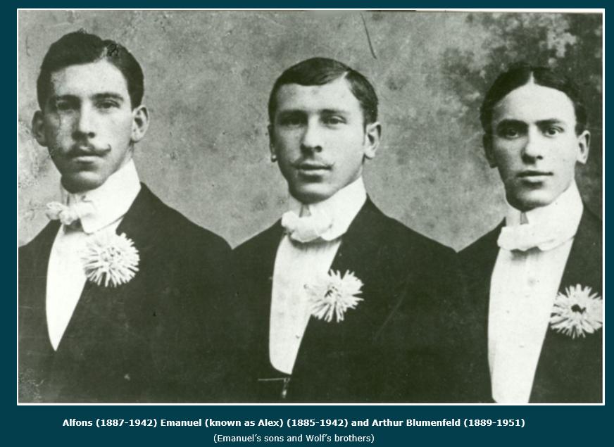 Alfons, Arthur & Alex Blumenfeld