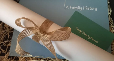 5 Generation Family Tree Gift Package. Scroll & Book