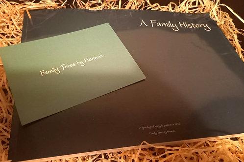 5 Generation Family History Book