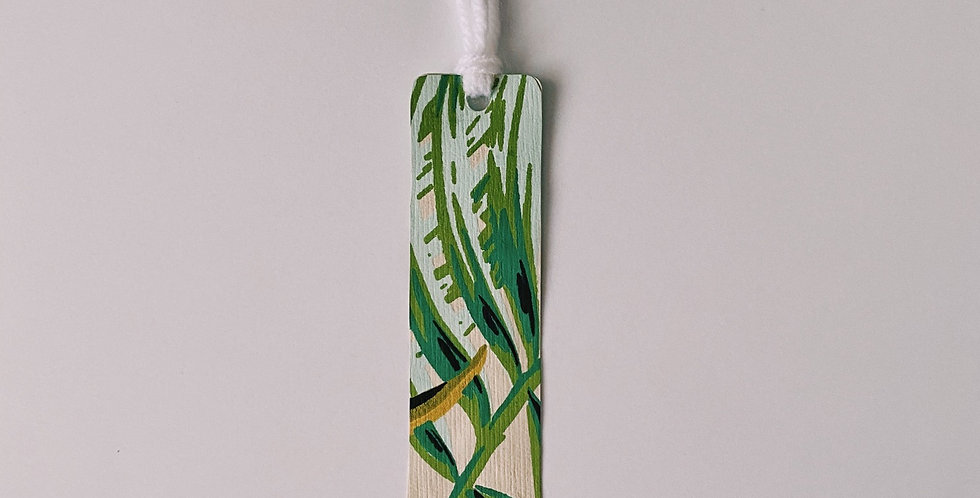Jungle Leaves Bookmark With Tassel