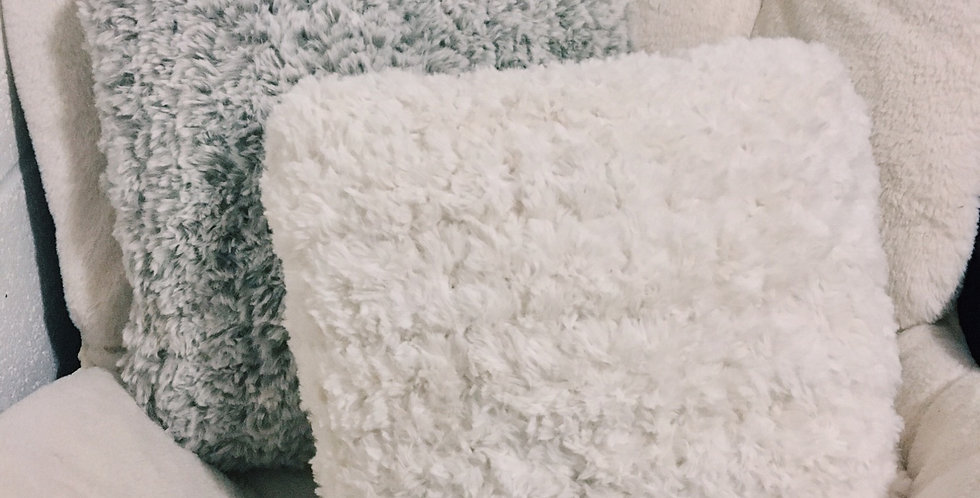 Faux Fur Crochet Pillow