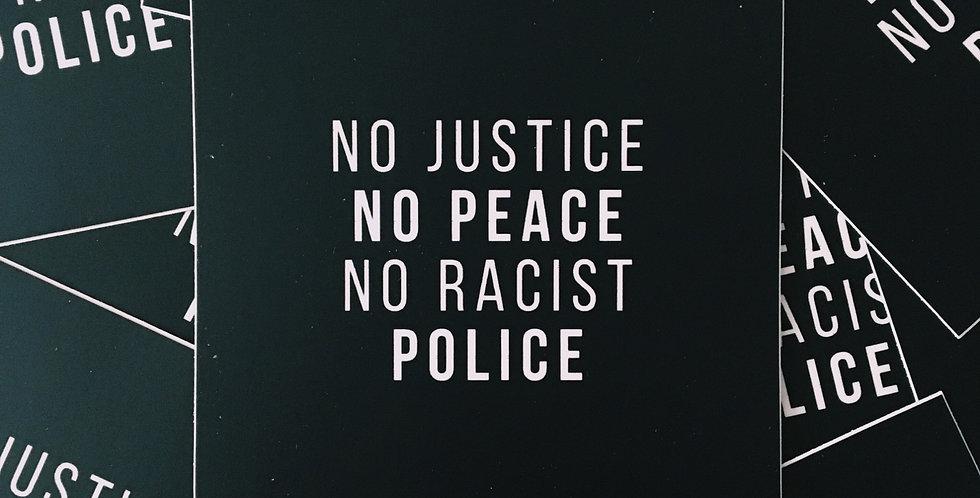 No Justice Sticker