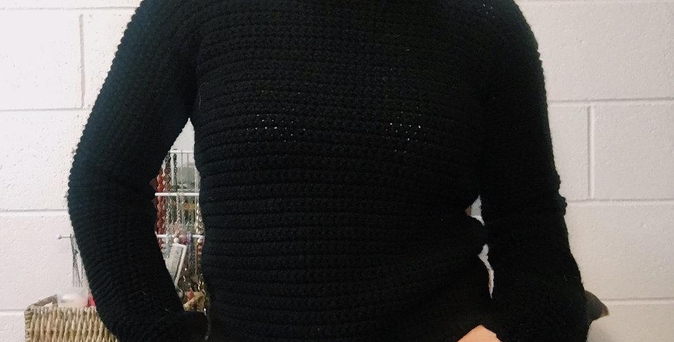 Small Black Turtleneck Sweater