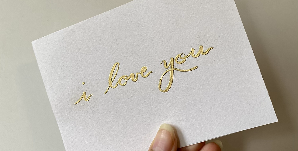 I Love You Card (embossed)