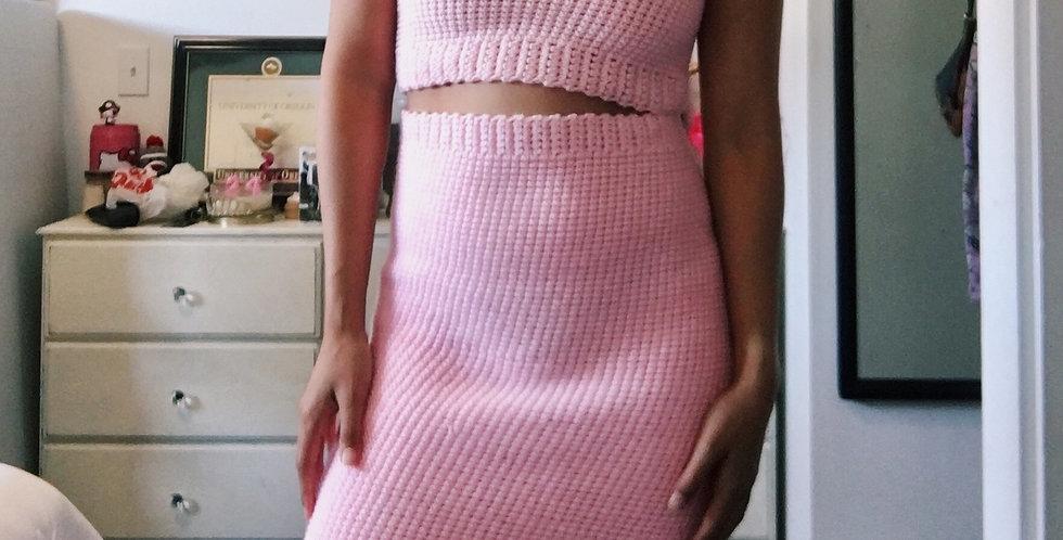 Medium Baby Pink Pencil Skirt