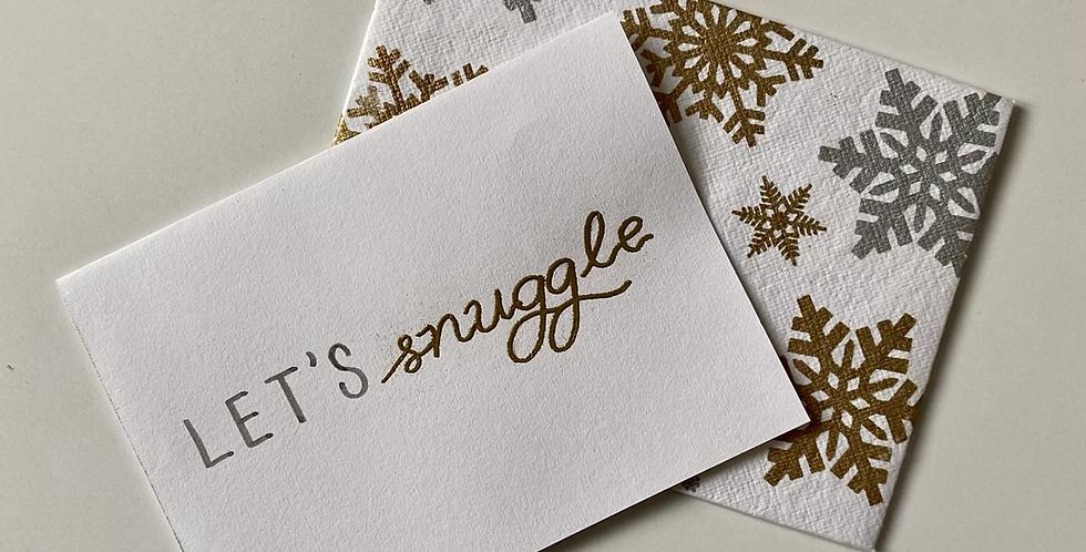 Let's Snuggle Card (embossed)