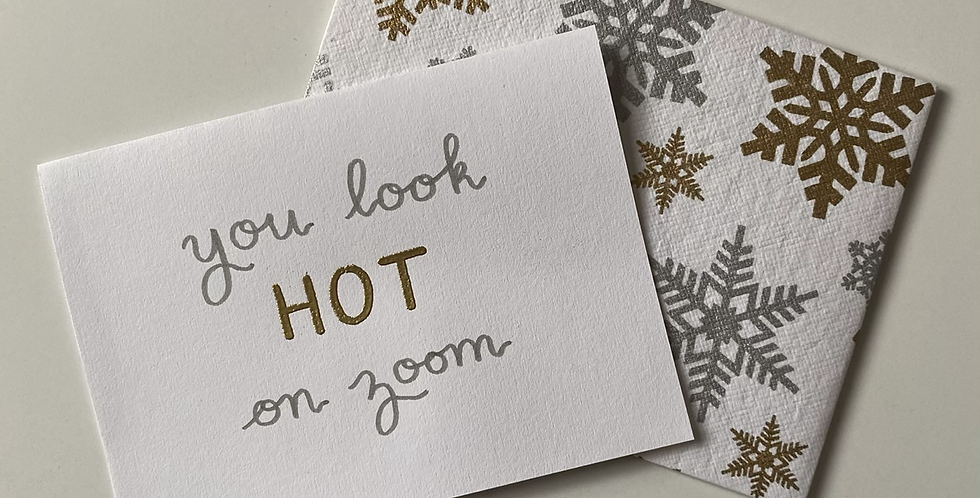 Hot On Zoom Card (embossed)