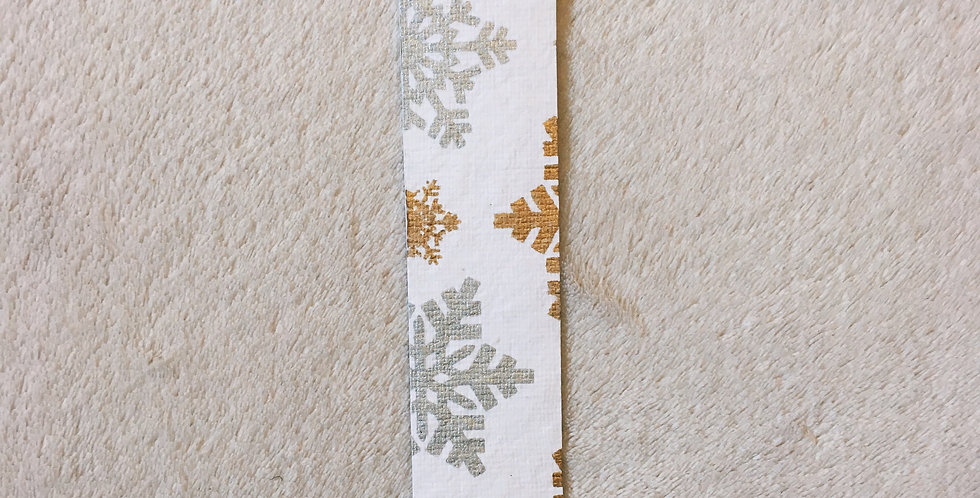 Gold & Silver Snowflakes Bookmark