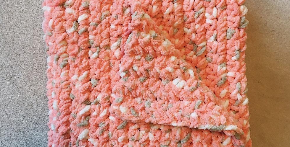 Coral Speckled Baby Blanket