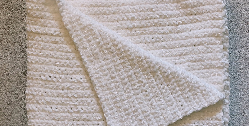 White Velvet Throw Blanket