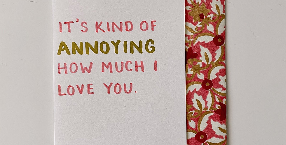 How Much I Love You Card