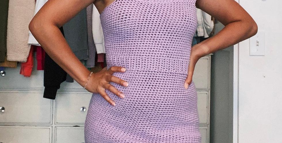 Small/Medium Pale Plum Off The Shoulder Dress