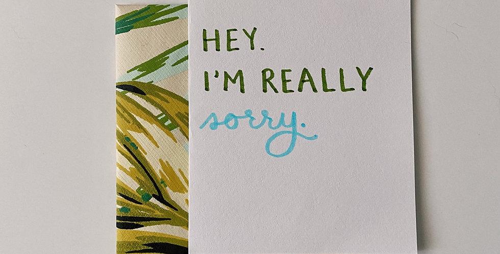 I'm Really Sorry Card