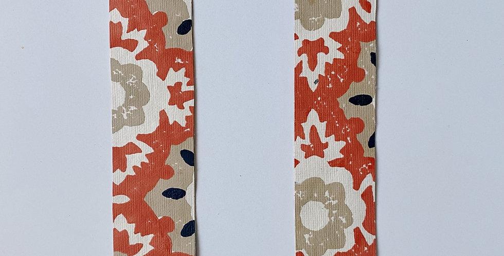 Floral Orange Bookmark