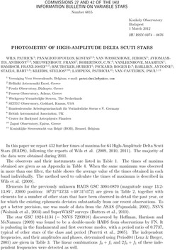 PHOTOMETRY OF HIGH-AMPLITUDE DELTA SCUTI