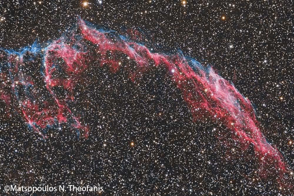 Eastern Loop of Veil Nebula by Theofanis Matsopoulos
