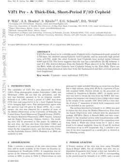 V371 Per - A Thick-Disk, Short-Period F1