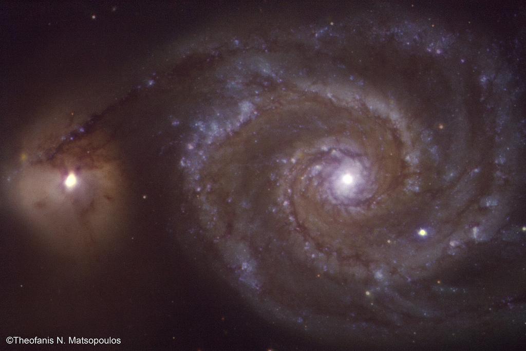Whirlpool Galaxy (M51) - 25-inch Newall