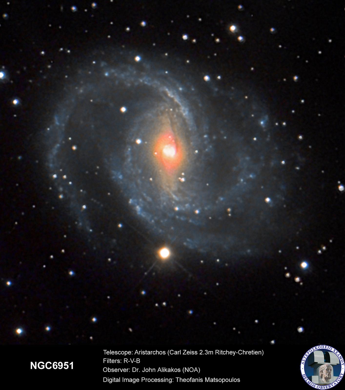 Aristarchos Telescope NGC6951 by Theofanis Matsopoulos