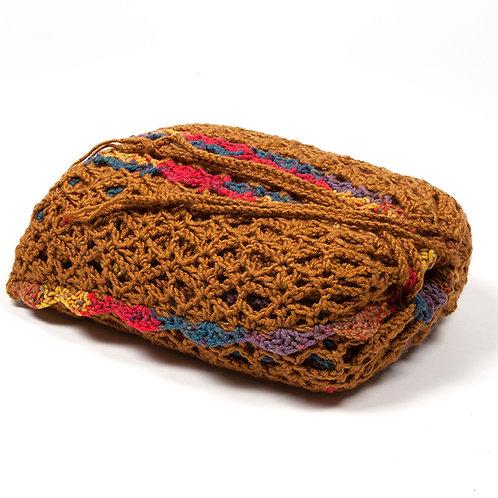 Cinnamon travel blanket in matching bag