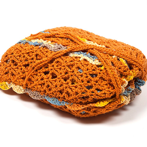 Pumpkin travel blanket set with matching bag
