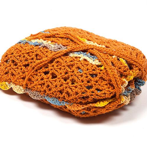 Pumpkin travel blanket set with matching bag