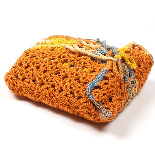 Pumpkin travel blanket set in matching bag