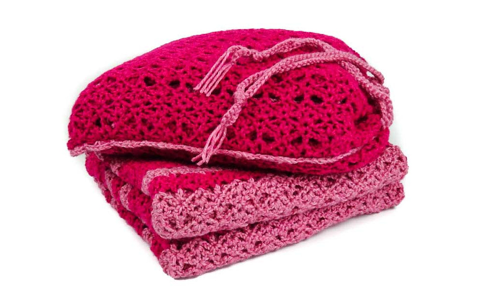 Pink Pleasure blanket that inspired the Channai Couture travel blanket collection