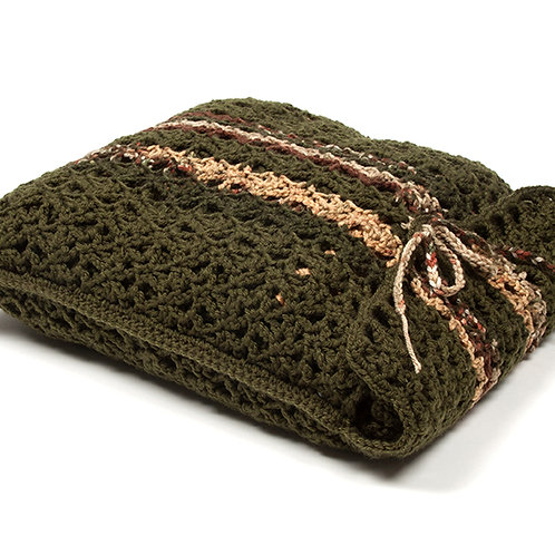 Forest travel blanket in matching bag