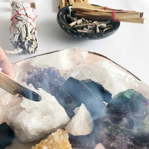 Limpieza de cuarzos con humo