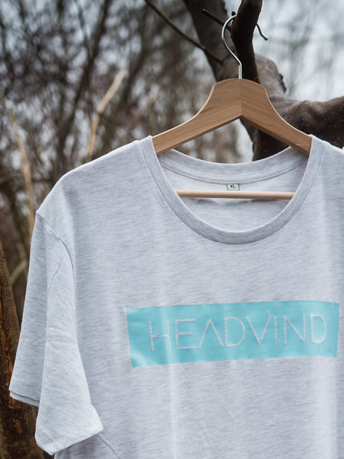 Shirt HEADVIND unisex light grey/turquoise