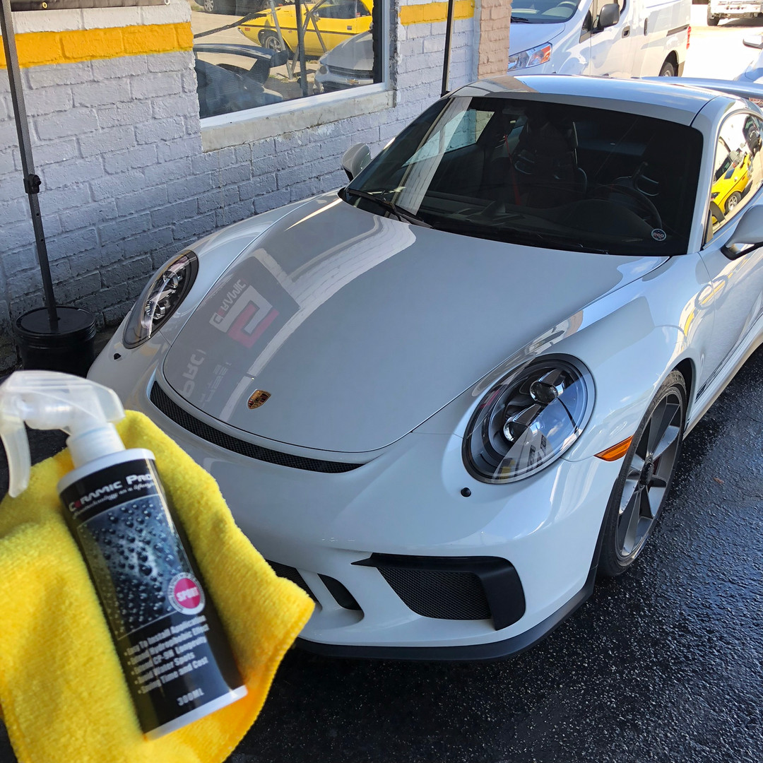 Porsche yearly maintenance ceramic pro Miami