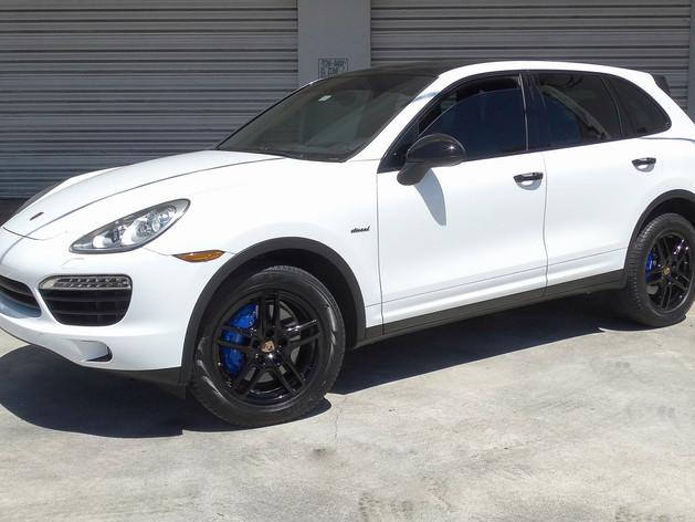 Porsche Cayenne - Car Wrap - Window Tinting and Wheels Powder Coating