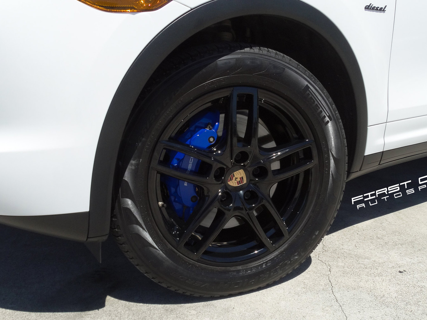 Porsche powder coating Miami gloss black wheel finish